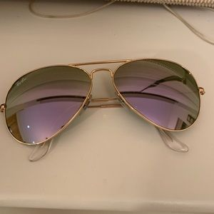 Custom Ray Ban Aviator Lilac Flash Lens